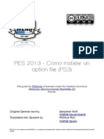 Como Instalar Un Option File PES 2013 Ps3