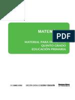 Matematica Quinto Grado Distribucion Anual