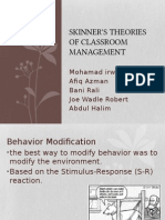 Skinner's Theories of Classroom Management