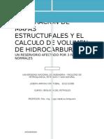 Preparacion de Mapas Estructurales y El Calculo de Volumen de Hidrocarburos