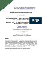 Teoria Fundamentada y Atlas Ti.