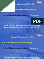 Struers - Microhardness Testing