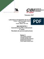 Mini Reporte 3 de Ingenieria de los materiales UAM AZC