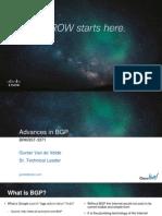BRKRST-3371 - Advances in BGP (2013 Orlando) - 90 Mins