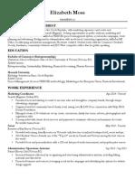 elizabeth moss - resume for website