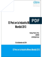"""""""El Perú en la Industria Minera Mundial y el índice Fraser"""".pdf"""