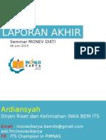 Format Laporan Akhir 2014