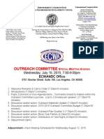ECWANDC Outreach Committee Meeting - July 15, 2015