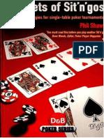 Secrets of Sit n Gos Phil Shaw