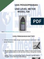 Presentation Sound Level Meter Model 720