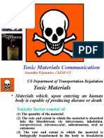 Chemical Toxin Communication