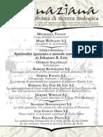 Ignaciana, Rivista Di Ricerca Teologica, 19-2015