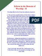 Islamic Reform in the Domain of Worship - II