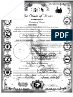 Marriage Certificate Scan