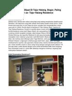 Iklan Rumah Dijual Di Tajur Halang, Bogor, Paling Murah Se- Tajur Halang Residence
