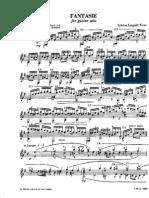 245509775 Silvius Leopold Weiss Fantasie2 PDF
