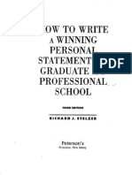 Personal Statement for Graduate and Professional School