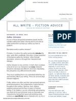 All Write - Fiction Advice_ April 2012