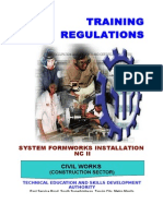 TR - System Formwork Installation NC II