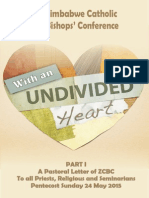 With an Undevided Heart Pastoral Letter PART 1 2015