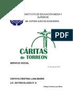 Servicio Social CÁRITAS