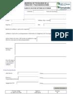 Formulario Solicitud Software No Estandar