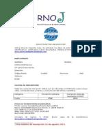 Pre-Inscripción RNOJ 2015