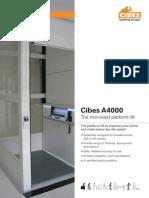 Thang máy gia đình Cibes A4000 - Khi không gian lắp dặt là một vấn đề