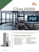 Thang máy gia đình dạng Platform Cibes A5000