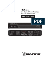 FRS Series Amps OM