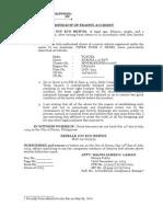 Affidavit of Traffic Accident - Reselle Joy Britos