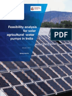Feasibility Analysis for Solar agricultural water pumps in India