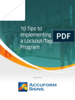 10 Tips to Implementinga Lockout Tagout Program