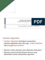 DAA IB - Fundamentals of Algorithm Analysis in Efficiency