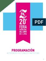 Programación FIL Lima 2015