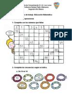 Fichas de trabajo  Educación Matemática