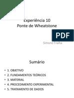 Experiência 10 – Ponte de Wheatstone (FEAI)