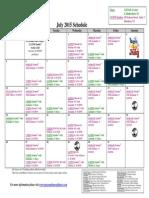 SCDNF July 2015 Schedule