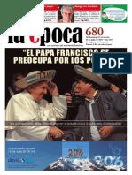 Nº 680 - Especial visita Papa a Bolivia + entrevista a Frei Betto - Julio 2015