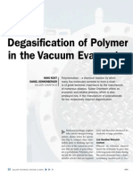 Degasification of Polymer in the Vacuum Evaporator