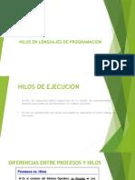 HILOS EN LENGUAJES DE PROGRAMACION