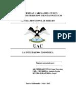 Integracion Economica DOCE
