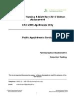 Familiarisation Booklet Mature Written Assessment Test 2015