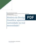 Historia Da Divulgacao Cientifica