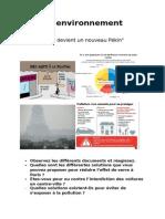 Fiche Environnement Pollution preparation au A-level (oral)