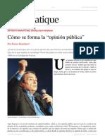 Cómo Se Forma La Opinión Pública - Pierre Bourdieu