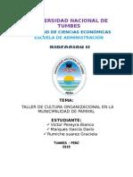 Plan de Cultura de La Municipalidad de Papayal
