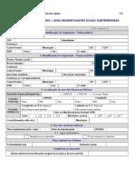 Formulário para cadastro de água
