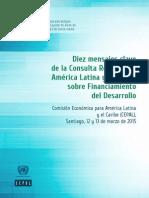 Diez Mensajes Clave de La Consulta Regional de América Latina y El Caribe Sobre Financiamiento Del Desarrollo