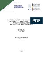 Religie Ortodoxa Programa Titularizare P